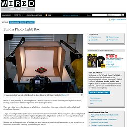 Build a Photo Light Box