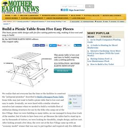 Build a Picnic Table from Five Easy Pieces