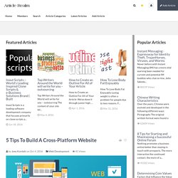 5 Tips To Build A Cross-Platform Website Article-Realm