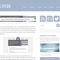 How to Build a Basic Portfolio WordPress Theme