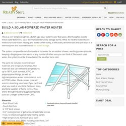 Build a Solar-Powered Water Heater / The ReadyBlog