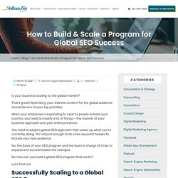How to Build & Scale a Program for Global SEO Success
