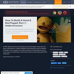 How to Build a Hand and Rod Puppet PART 1 - Understructure