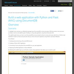 Build a web app with Python and Flask using DocumentDB
