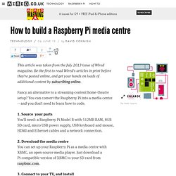 How to build a Raspberry Pi media centre