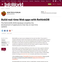 Build real-time Web apps with RethinkDB