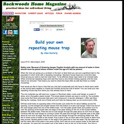 Build your own repeating mouse trap by Allen Easterly Issue #110