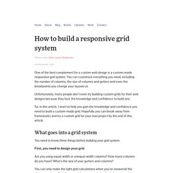 How to build a responsive grid system