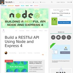 Build a RESTful API Using Node and Express 4
