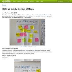 Help us build a School of Open