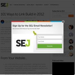 101 Ways to Link Build in 2012