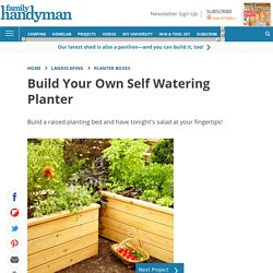 Build self watering planters