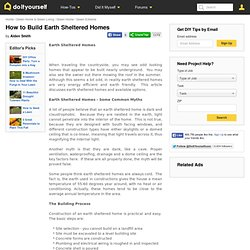 How to Build Earth Sheltered Homes