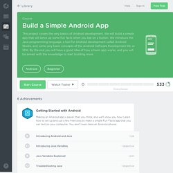 Build a Simple Android App Course
