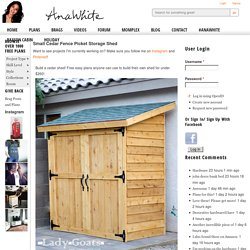 Build a Small Cedar Fence Picket Storage Shed