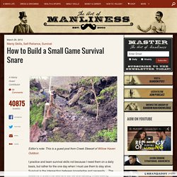 How to Build a Small Game Survival Snare