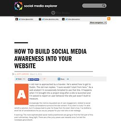 How To Build Social Media Awareness Into Your Website