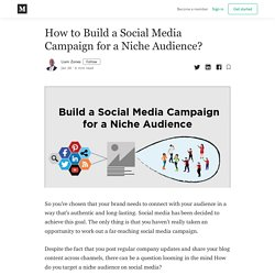 How to Build a Social Media Campaign for a Niche Audience?