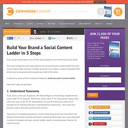 Build Your Brand a Social Content Ladder in 5 Steps | Blogging and Content Creation | Social Media Consulting - Convince & Convert