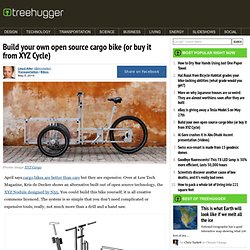Build your own open source cargo bike (or buy it from XYZ Cycle)