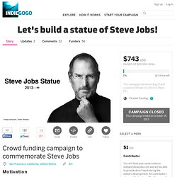 Let's build a statue of Steve Jobs!