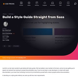 Build a Style Guide Straight from Sass
