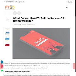 What Do You Need To Build A Successful Brand Website?