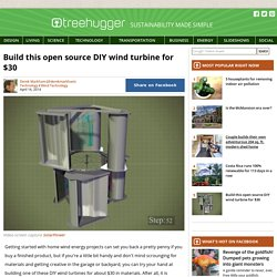 Build this open source DIY wind turbine for $30