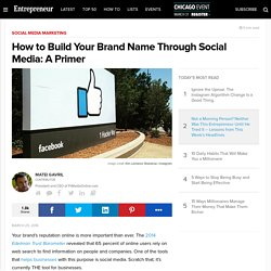 How to Build Your Brand Name Through Social Media: A Primer