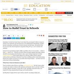 How to Build Trust in Schools