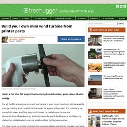 Build your own mini wind turbine from printer parts