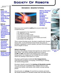 How to Build a Robot Tutorials - Society of Robots