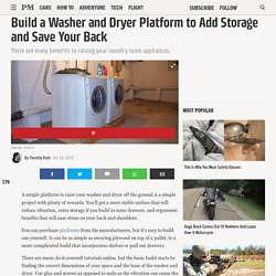 Build a Washer and Dryer Platform to Add Storage and Save Your Back