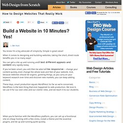 Build a Website in 10 Minutes!