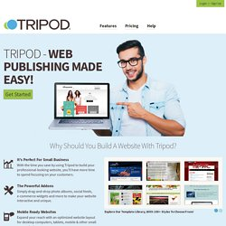 Tripod - Succeed Online - Excellent web hosting, domains, e-mail and an easy website builder tool