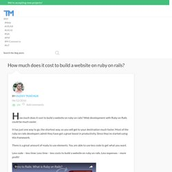 How much does it cost to build a website on ruby on rails? Best examples