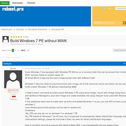 Build Windows 7 PE without WAIK - Windows PE