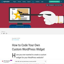 How To Build WordPress Widgets Like A Pro