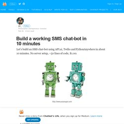 Build a working SMS chat-bot in 10 minutes – Chatbot's Life