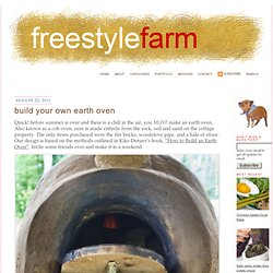 Build Your Own Earth Oven » FreestyleFarm