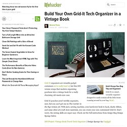 Build Your Own Grid-It Tech Organizer in a Vintage Book