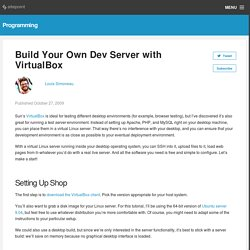 Build Your Own Dev Server with VirtualBox
