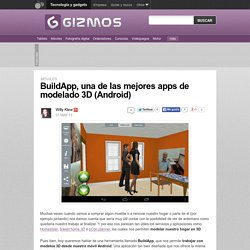 BuildApp, una de las mejores apps de modelado 3D (Android)