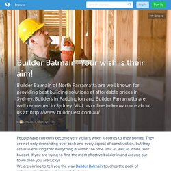 Builder Balmain: Your wish is their aim! (with images) · buildquest