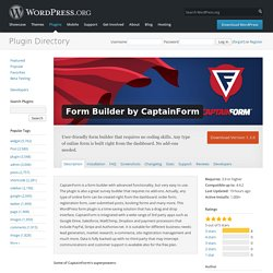 Form Builder by CaptainForm — WordPress Plugins