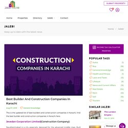 Best Builder and Construction Companies in Karachi