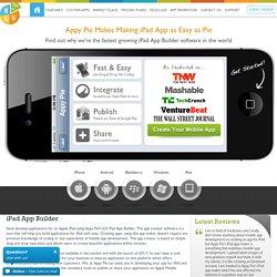 iPad App Builder, iPad App Maker, iPad App Creator, App Generator