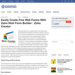 Easily Create Free Web Forms With Zoho Html Form Builder : Zoho Creator