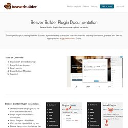 Page Builder Documentation