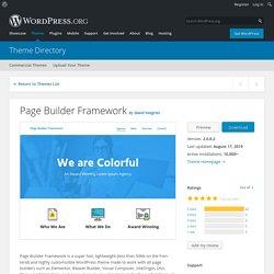 Page Builder Framework – WordPress theme